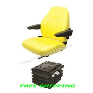 John Deere 7000 Series Open Station Air Ride Seat And Suspension 7200 7400 7810