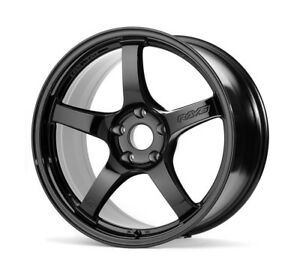 18 Staggered Rays Gram Lights 57cr Black Wheels 5x4 5 350z 370z G35 Coupe