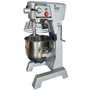 Commercial Bakery 30 Quart Mixer Stainless Steel Bowl W Guard 115 Volts Etl