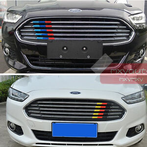 New Colorful Grille Stripe Trim For Ford Fusion 2013 2014 2015 2016 2017