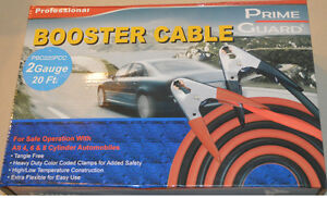 2 Gauge 20 Foot Professional Service Booster Cable Color Coded Copper Cables