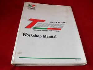 Lister Petter T Series Ts Tr Tx Diesel Engine Workshop Manual 027 08221