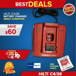 Hilti C 4 36 Lithium ion Battery Charger Free Shirt Mint Cond Fast Ship