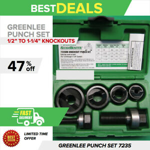 Greenlee Knockout Punch Set 7235 Bb 1 2 To 1 1 4 Brand New Fast Shipping