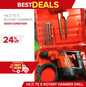 Hilti Te 5 Hammer Drill Preowned in Great Condition made In Germany fast Ship