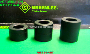 Greenlee Set Of Short Spacers 3 Brand New Fast Shipping