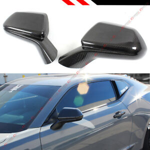 For 2016 2019 Chevy Camaro Ss Rs Zl1 Carbon Fiber Add on Side View Mirror Covers