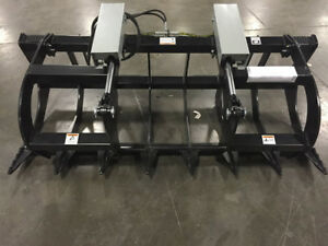 78 Two Cylinder Brush Grapple Skid Steer Bobcat Hd Quick Attach 6 6