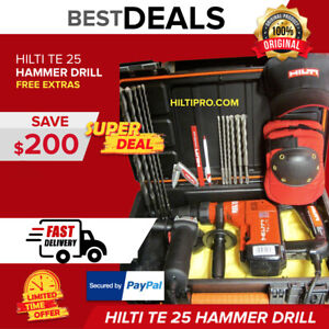 Hilti Te 25 Drill Great Condition Free Angle Grinder Drill Bits Fast Ship