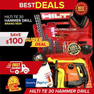 Hilti Te 30 Rotary Hammer Drill brand New Free Bits And Chisels Fast Shipping