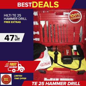 Hilti Te 25 Preowned W Free Bits Chisels Extras L k Fast Shipping