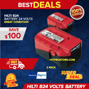 2 Hilti 24v 2 0 Nicd Battery Brand New Durable Very Strong Fast Shipping