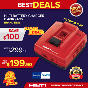 Hilti 4 36 Acs Turbo Battery Charger Brand New Charge Faster Fast Shipping