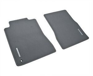 2005 2009 Mustang Oem Genuine Ford Gray Graphite 2pc Front Floor Mats W Emblem