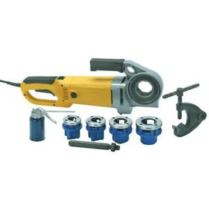 Portable Electric Pipe Threader Threading Machine 2000w 1 2 To 1 1 4 Npt Dies