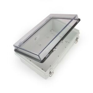 Ekm Ul Watertight Enclosure Hinged Latching Lid Plastic Din Rail Mount 70