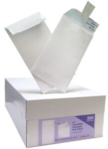 Peel Seal Envelope White 7 Coin 3 3 4 X 6 3 4 Sku 73348b