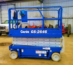 Genie Gs 2646 Scissor Lift Electric 32 Scissors Skyjack Jlg Gs 2632