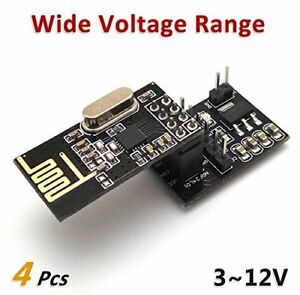 4pcs Nrf24l01 Wireless Module With Voltage Regulating Breakout Adapter