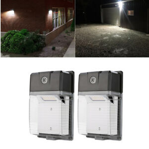 2 Pack 20w Led Wall Pack 5000k Waterproof Ip65 Dusk To Dawn Sensor 100 277v Ac