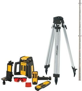 2000 Ft Self leveling Horizontal vertical Rotating Laser Level Kit 10 piece New