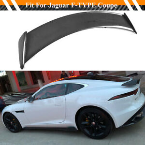 Fits Jaguar F type Coupe 14 18 Rear Trunk Wing Tail Trunk Spoiler Carbon Fiber