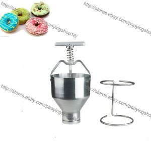Handheld Donut Cutter Dispenser Doughnut Dropper Depositor Dough Plunger Hopper