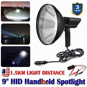 9 Inch 300w Handheld Hid Spotlight Hunting Search Light 6000k 1 5km Distance Us