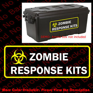Biohazard Zombie Outbreak Response Kits Vinyl Decals Sticker For Ammo Box Fy038