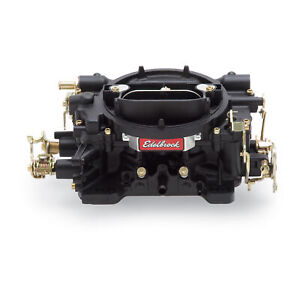 Edelbrock 14053 Carburetor 600 Cfm Black Powdercoated Manual Choke