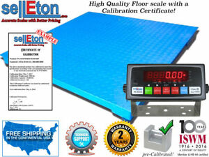 60 X 60 5 X 5 Floor Scale With Calibration Certificate Digital Display