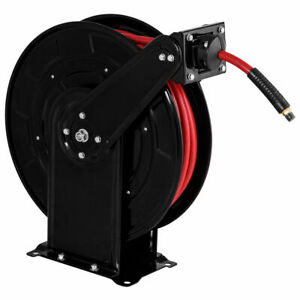 3 8 X 65 Auto Rewind Retractable Air Hose Reel 300 Psi Rubber Hose Heavy Duty