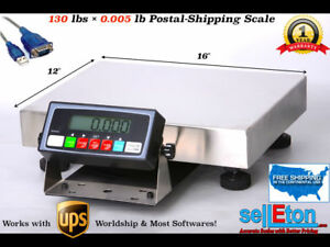 New Ups Ready Shipping Scale Postal Scale 130 Lbs X 005 Lb With Usb Cable