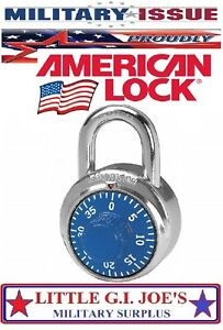 American Lock A400 Combination Padlock Center 1 Dial Ss Military Issue