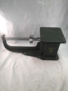 Vintage Office Desk Scale 4 Lbs Triner Acme Dark Green Chrome Mid Century Modern