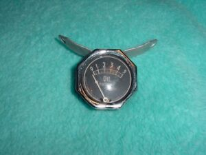 Vintage Antique Model A Ford Rochester Accessory Below Dash Oil Pressure Gauge