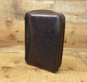 Franklin Covey Planner Full Grain Leather Organizer 1 6 Ring Distressed Brown