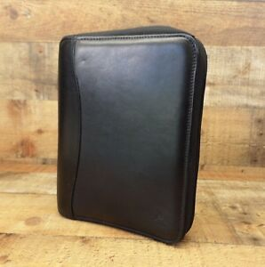 Franklin Covey Spacemaker Planner Leather Organizer 1 5 7 Ring Black