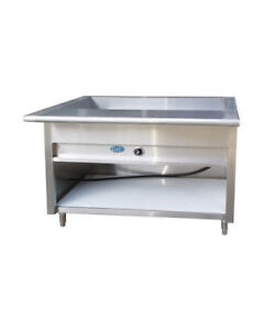 48 Electric Steam Table Stainless Steel 3 Pans 1 Element 208 Volts 1 Phase Nsf