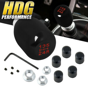 Universal Black Jdm Type 5 Speed Manual Transmission Shift Knob With Red Numbers