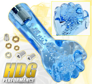Universal 150mm Bubble Fist Shift Knob Screw On Interchangeable Blue Manual Mt