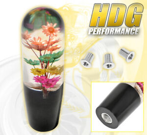 Universal 150mm Multi Color Flower Colorful Shift Knob Screw On Interchangeable