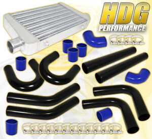 8pc Diy Turbo Charger Fmic Intercooler Piping Pipe Kit T bolt Clamp Coupler Blk