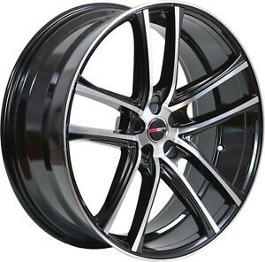 4 Gwg Wheels 17 Inch Black Machined Zero Rims Fits Ford Mustang 2005 2014