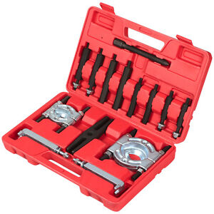 14pcs Bearing Separator Puller Set 2 And 3 Splitters Remove Bearings Kit Red
