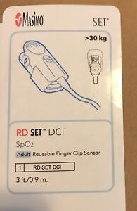 New Masimo Rd Set Dci Spo2 Adult Reusable Finger Clip Sensor Ref 4050