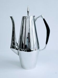 Reed Barton Sterling Silver The Diamond Coffee Pot Black Reeded Handle 440