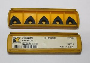Kennametal Tooling Inserts Dft070408md Grade Kc7935 lot Of 5 Ea inserts