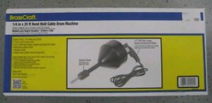 New Brasscraft 1 4 X 25 Hand Held Cable Drum Drain Cleaner Cleaning Machine
