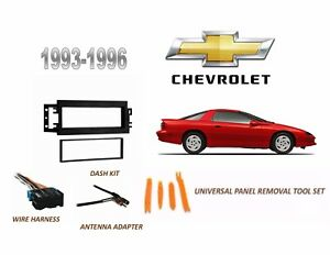 Fits 1993 1996 Chevrolet Camaro Stereo Install Dash Kit wire Harness